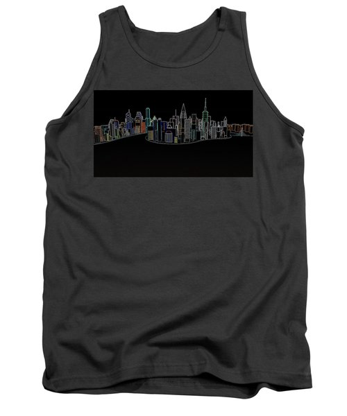 Glowing City Tank Top