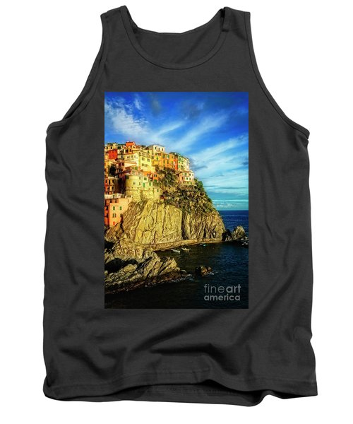 Tank Top featuring the photograph Glowing Manarola by Scott Kemper