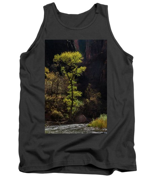 Glowing Tree At Zion Tank Top