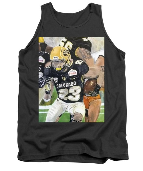 Tank Top featuring the painting Go Buffs by Kevin Daly