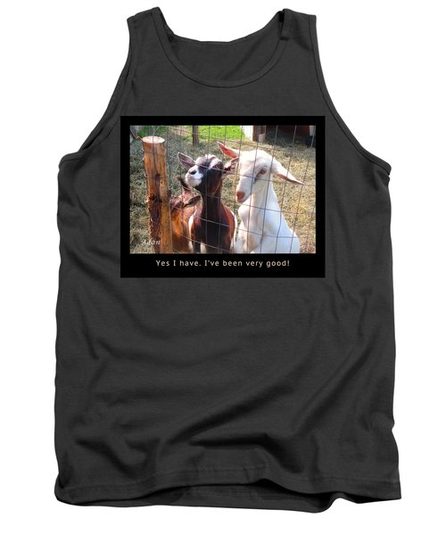 Tank Top featuring the photograph Goats Poster by Felipe Adan Lerma
