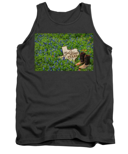 God Bless Texas II Tank Top by John Roberts