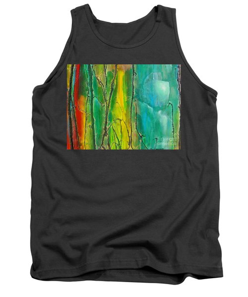 God Has Moved  Into The Neigborhood Tank Top by Dan Whittemore