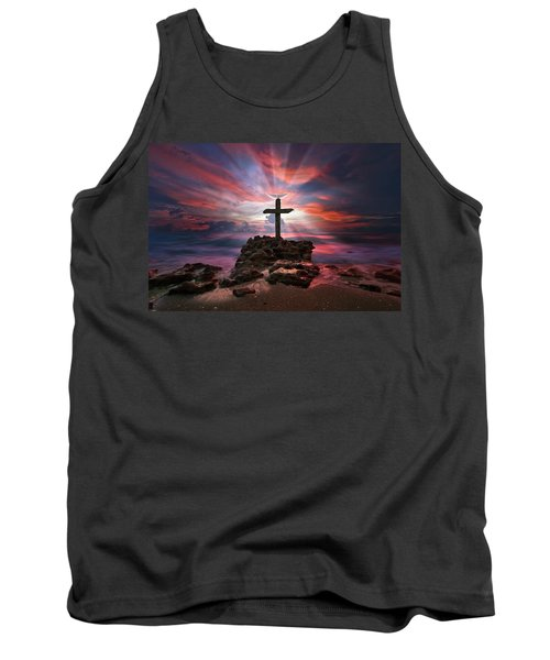 God Is My Rock Special Edition Fine Art Tank Top