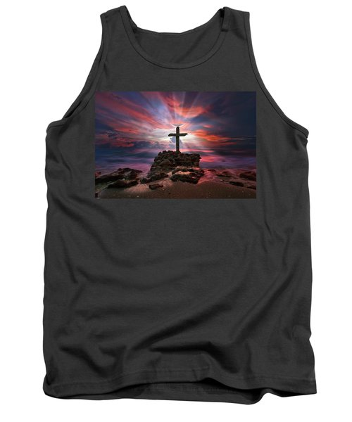 Tank Top featuring the photograph God Is My Rock Special Edition Fine Art by Justin Kelefas