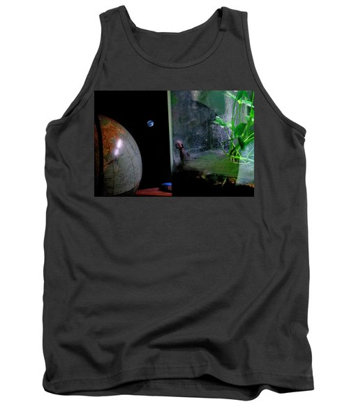 Godzilla Watches And The Moon Is Blue Tank Top