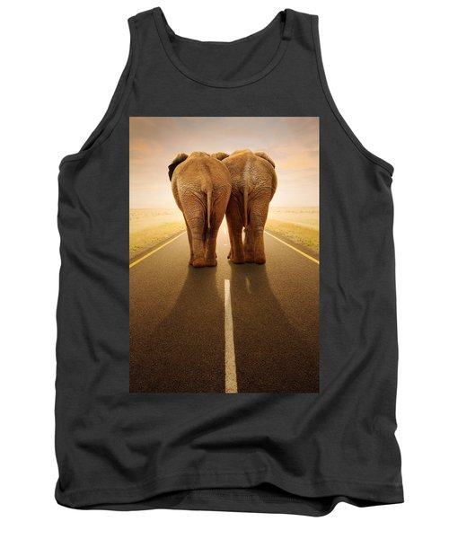 Going Away Together / Travelling By Road Tank Top by Johan Swanepoel
