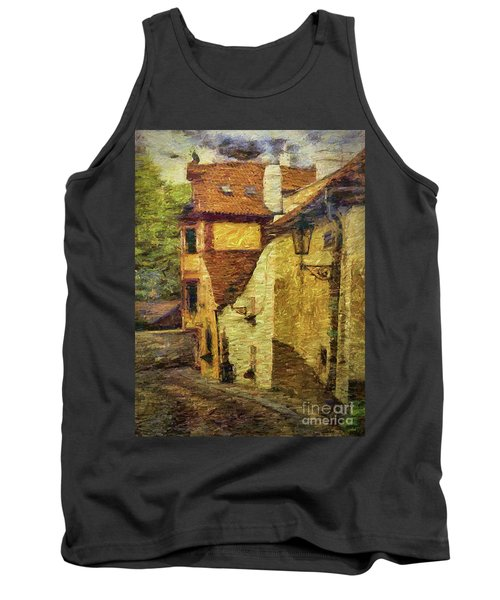 Going Downhill And Round The Bend Tank Top