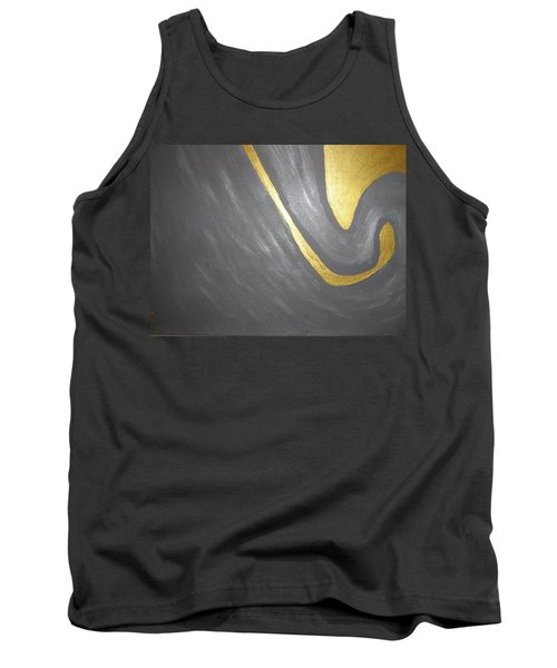 Gold And Gray Tank Top by Barbara Yearty