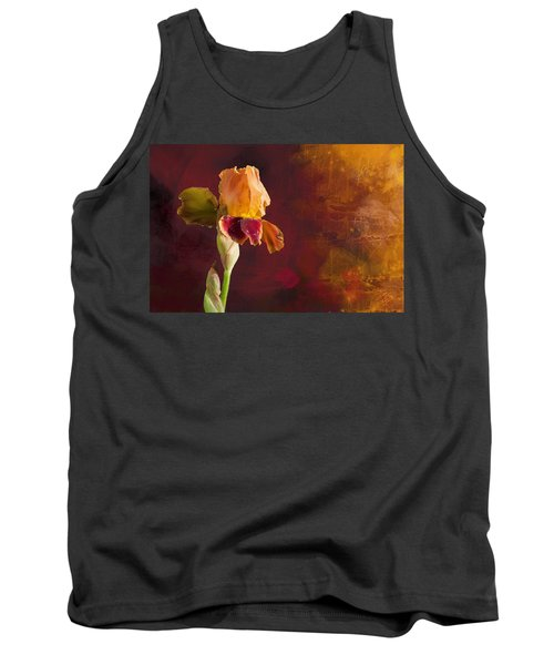 Gold And Red Iris Tank Top