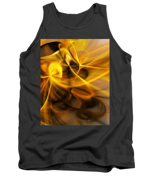 Gold And Shadows Tank Top