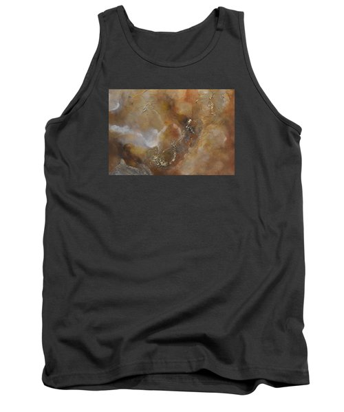Tank Top featuring the painting Gold Bliss by Tamara Bettencourt