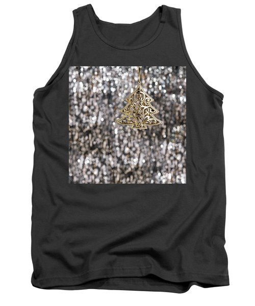 Tank Top featuring the photograph Gold Christmas Tree by Ulrich Schade