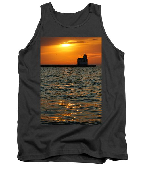 Gold On The Water Tank Top by Bill Pevlor