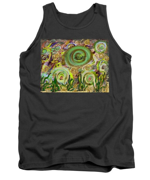 Gold Sand With Fish Illuminated Tank Top