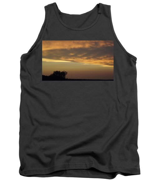 Gold Sky Over Lake Of The Ozarks Tank Top by Don Koester