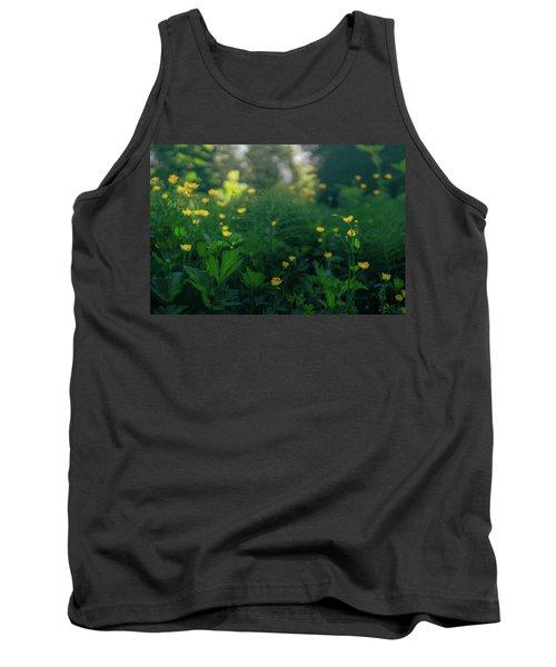 Golden Blooms Tank Top