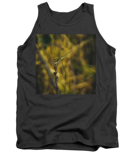 Golden Drangonfly Tank Top by Cesare Bargiggia