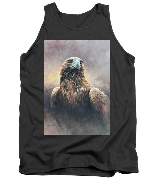 Golden Eagle Portrait Tank Top