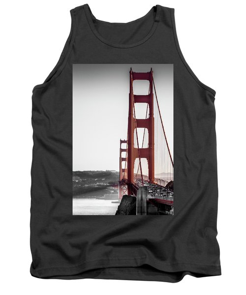 Golden Gate Black And Red Tank Top