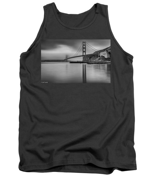 Golden Gate Black And White Tank Top