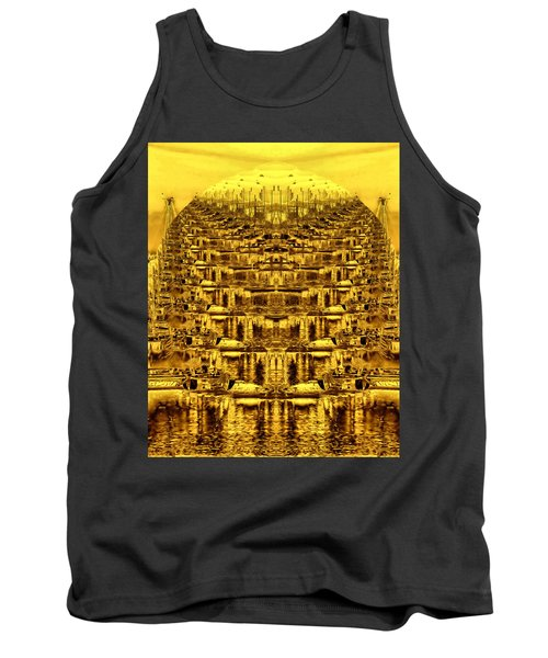 Tank Top featuring the photograph Golden Globe by Bob Wall
