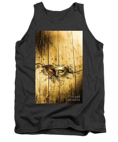 Golden Masquerade Mask With Keys Tank Top