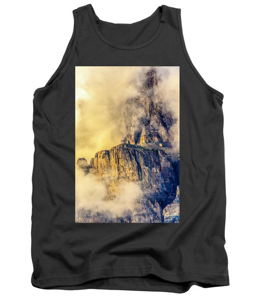 Golden Mist On Cathedral Mountain Tank Top