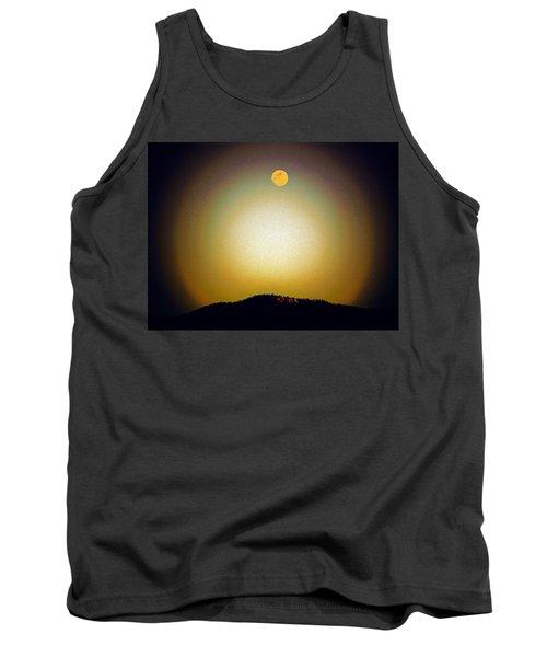 Tank Top featuring the photograph Golden Moon by Joseph Frank Baraba