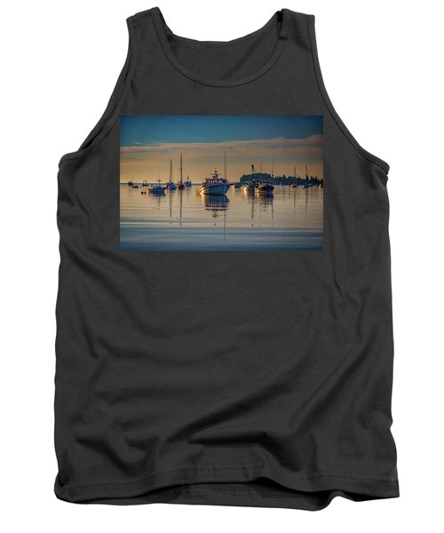 Tank Top featuring the photograph Golden Morning In Tenants Harbor by Rick Berk