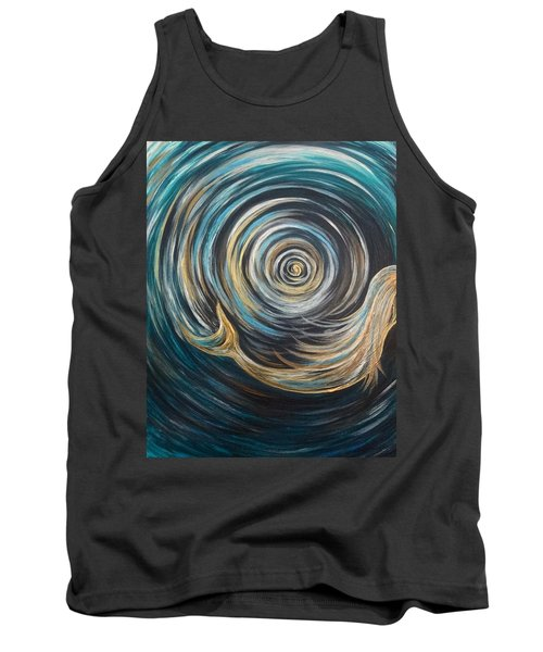 Golden Sirena Mermaid Spiral Tank Top