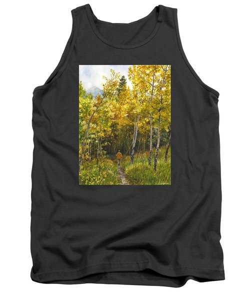 Tank Top featuring the painting Golden Solitude by Anne Gifford