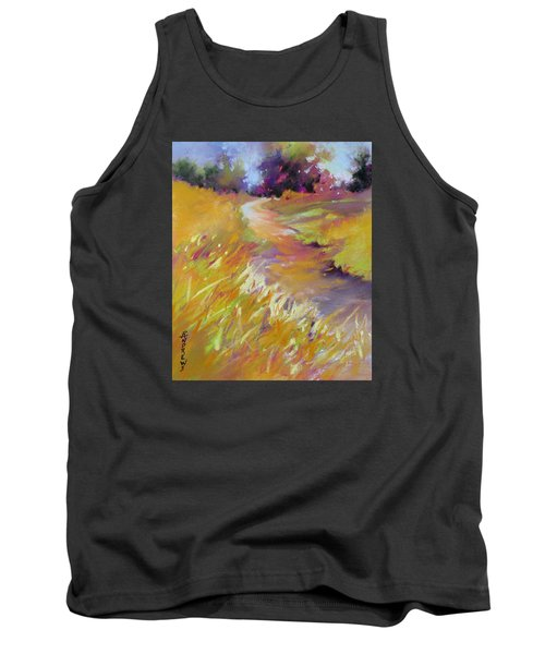 Tank Top featuring the painting Golden Splendor by Rae Andrews