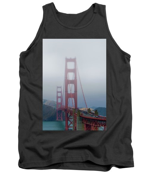 Tank Top featuring the photograph Golden State Golden Gate  by Joseph Hollingsworth