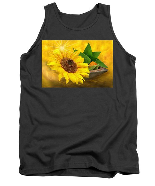 Golden Sunflower Tank Top