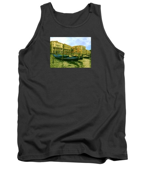 Tank Top featuring the photograph Golden Venice by Anne Kotan