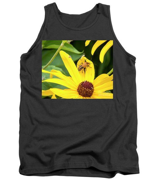 Tank Top featuring the photograph Goldenrod Soldier Beetle by Ricky L Jones