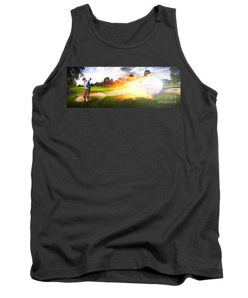 Golf Ball On Fire Tank Top