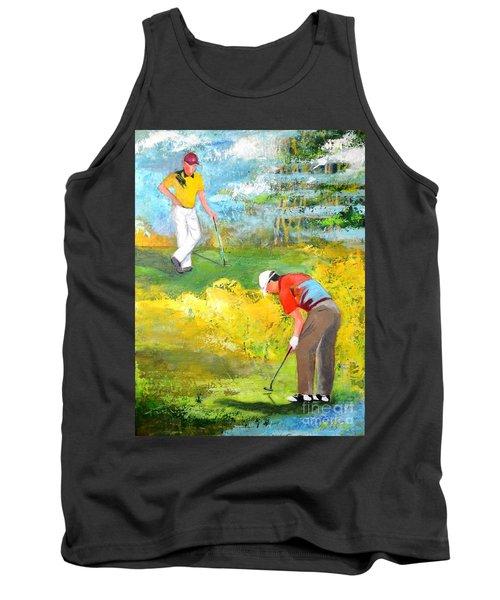 Golf Buddies #2 Tank Top by Betty M M Wong