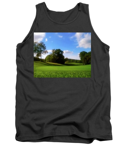 Golf Course Landscape Tank Top