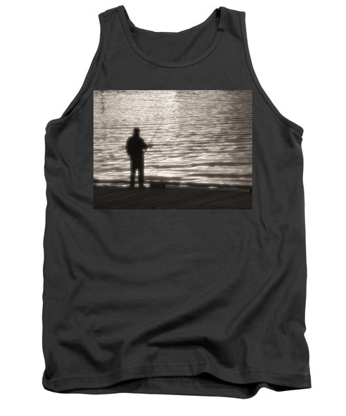 Gone Fishing Tank Top by Mark Alan Perry