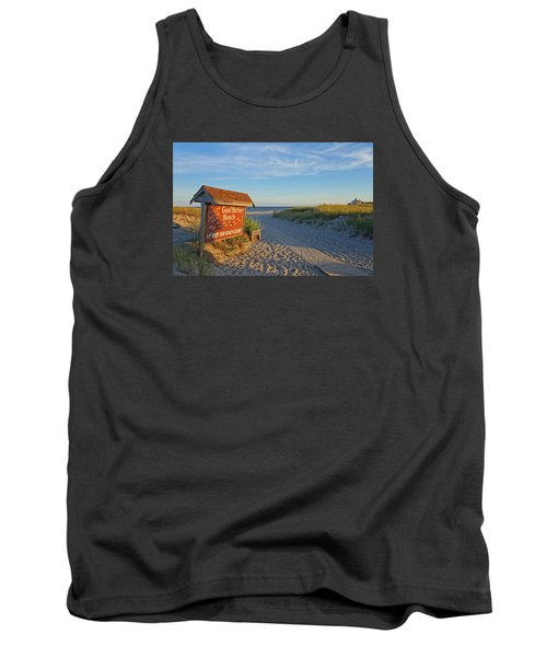 Good Harbor Sign At Sunset Tank Top