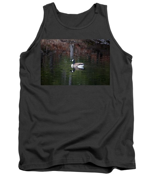 Tank Top featuring the photograph Goose On A Pond by Jeff Severson