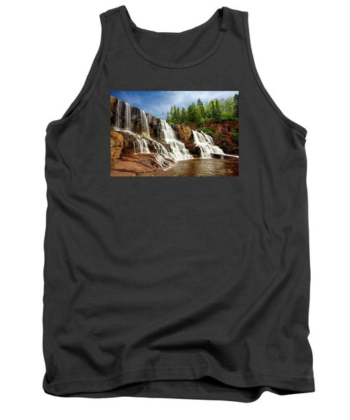 Tank Top featuring the photograph Gooseberry Falls by Rikk Flohr