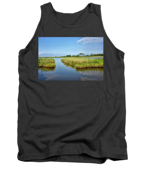 Tank Top featuring the photograph Gordons Pond - Cape Henlopen Park - Delaware by Brendan Reals