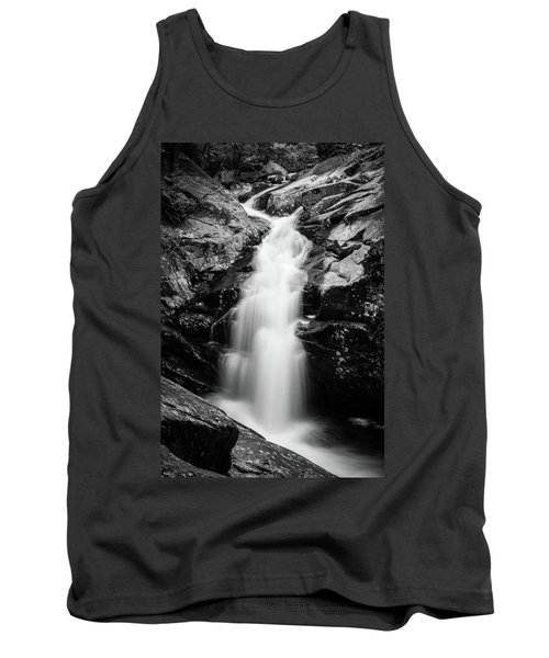 Gorge Waterfall In Black And White Tank Top