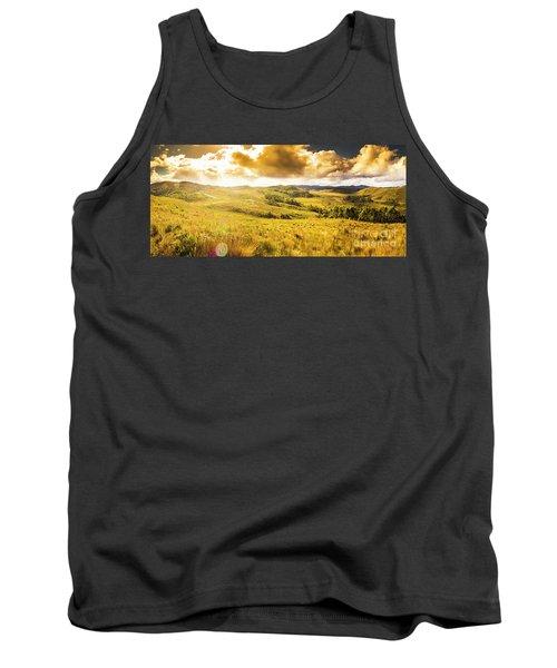 Gorgeous Golden Sunset Field  Tank Top
