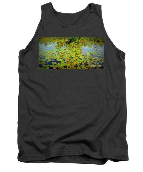 Gorham Pond Lily Pads Tank Top by Susan Lafleur