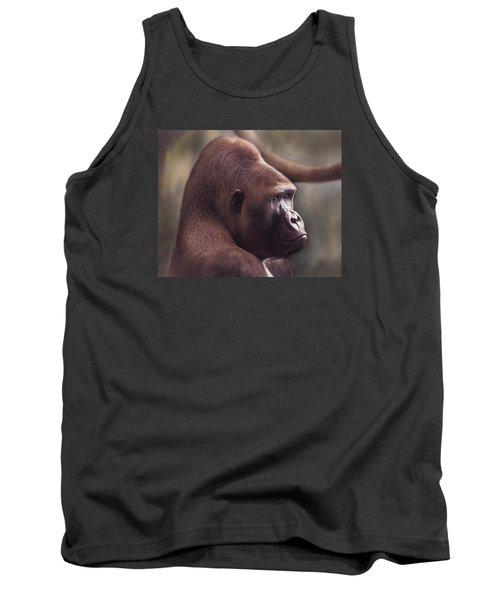 Gorilla Portrait Tank Top by Greg Slocum