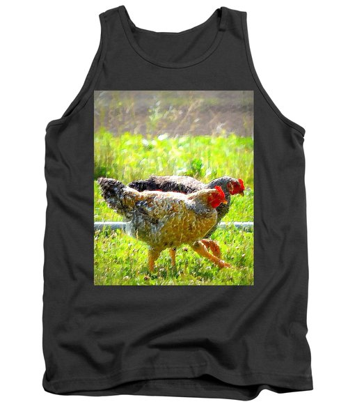 Tank Top featuring the photograph Gossip Girls by Barbara Dudley